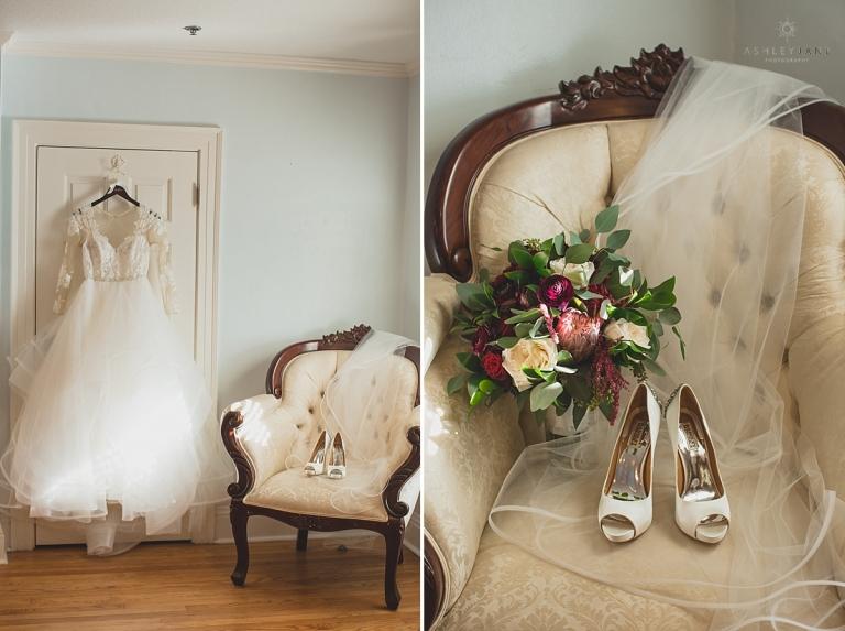 lace ashley paige wedding gown ivory pumps in bridal suite