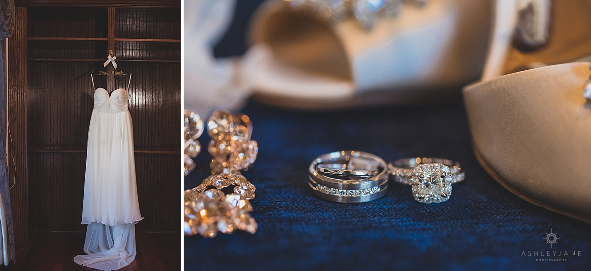 Luxmore Grande Estate | Southern Glam Wedding | Ashley Jane Photography bride details engagement ring wedding rings a line wedding down