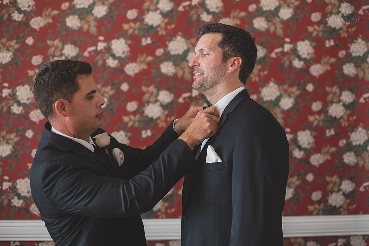 Luxmore Grande Estate | Southern Glam Wedding | Ashley Jane Photography groom getting ready