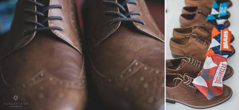 Funky socks for groomsmen gifts shot by orlando wedding photographer