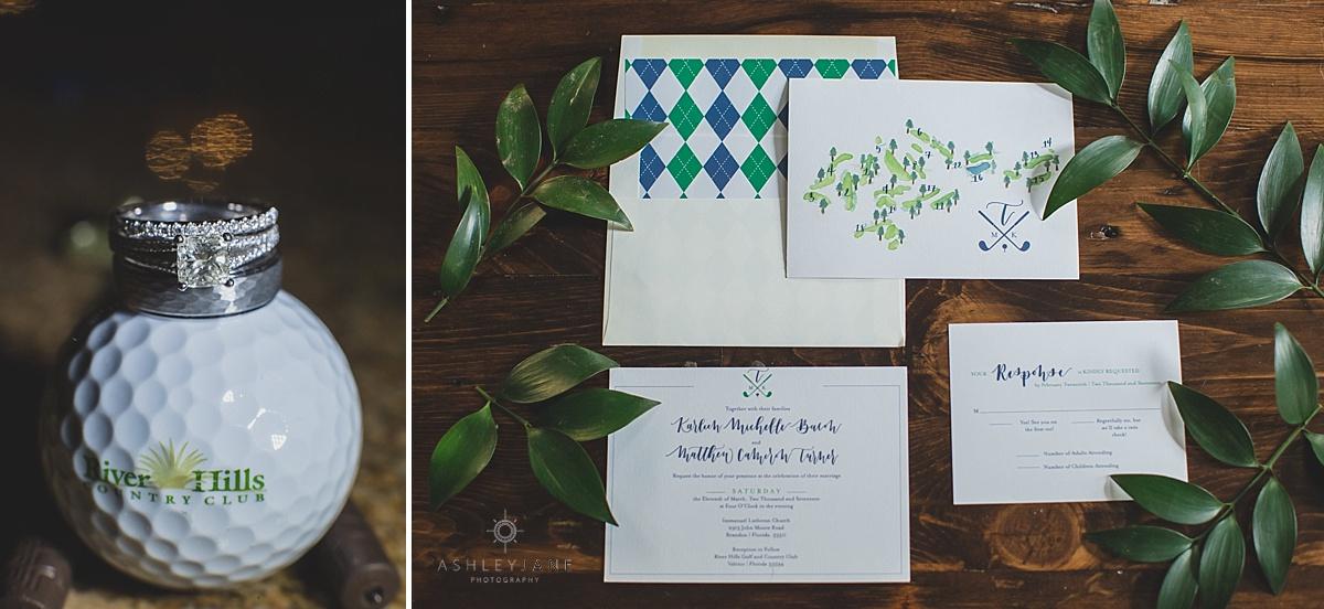 Gold inspired wedding invitation photographed by orlando wedding photographer
