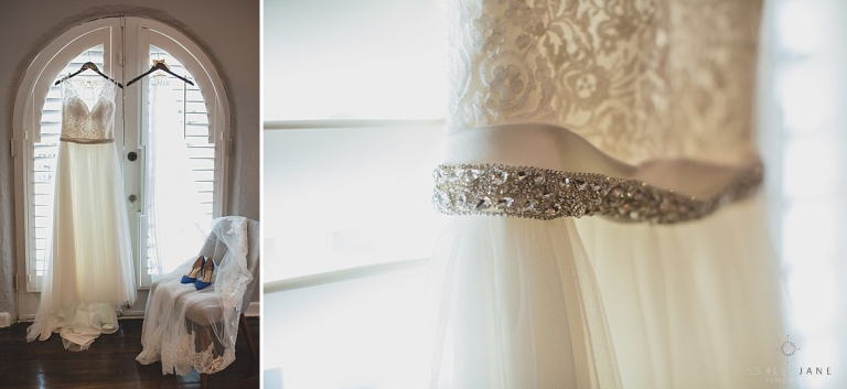 Lace and tulle a line dress shot by orlando wedding photographer